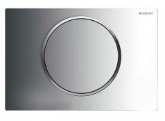 Geberit Sigma 10 Chrome Gloss/Chrome Matt/Chrome Gloss Single Flush Plate