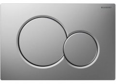 Geberit Sigma 01 Gloss Chrome/Matt Chrome Plastic Dual Flush Plate