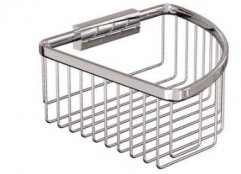 Britton Bathrooms Large Deep Corner Wire Basket
