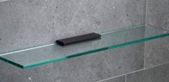 Miller Classic Black 600mm Glass Shelf