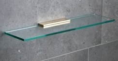 Miller Classic Brass 500mm Glass Shelf