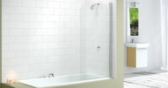 Merlyn Single Curved Bath Screen MB1
