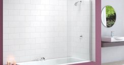 Merlyn Single Square Bath Screen MB2