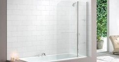 Merlyn Two Panel Curved Bath Screen MB3
