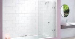 Merlyn Hinged Square Bath Screen MB6