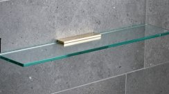 Miller Classic Brass 600mm Glass Shelf