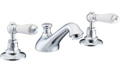 St James 3 Hole Basin Mixer with Pop Up Waste