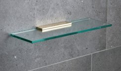 Miller Classic Brass 400mm Glass Shelf