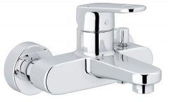 Grohe Europlus Wall Mounted Exposed Basin Mixer with S-Unions