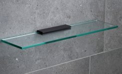 Miller Classic Black 500mm Glass Shelf