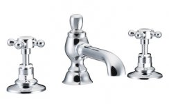 St James 3 Hole Basin Mixer with Colonial Spout