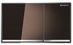 Geberit Omega 60 Umber Glass Dual Flush Plate