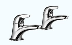Mira Comfort Basin Pillar Taps