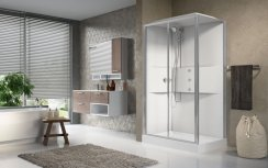 Novellini Media2.0 2P120x80 Standard Thermostatic Sliding Shower Enclosure