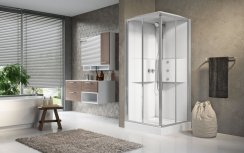 Novellini Media2.0 A80 Corner Entry Thermostatic Sliding Shower Enclosure