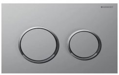 Geberit Omega 20 Matt Chrome/Gloss Chrome/Matt Chrome Dual Flush Plate