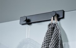 Miller Classic Black Shower Door & Screen Fitting 4-Hook
