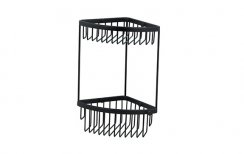 Miller Classic Black Two Tier Corner Basket