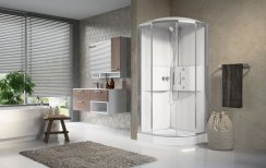 Novellini Media2.0 R90 Corner Entry Thermostatic Quadrant Shower Enclosure