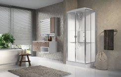 Novellini Media2.0 A90x70 Corner Entry Sliding Shower Enclosure