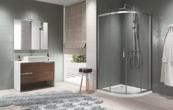 Novellini Zephyros R Double Door Offset Quadrant Shower Enclosure