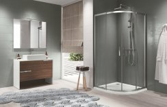 Novellini Zephyros R Double Door Quadrant Shower Enclosure