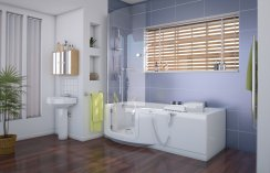 Access Indiana Slimline Walk-in Bath with Glass Door