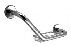Bathroom Origins Tecno Project Grab Bar & Basket - Chrome