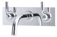 Perrin & Rowe 3Hole Wall Mounted Basin Mixer with Lever Handles (3334)