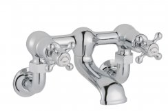 JTP Grosvenor Cross Chrome Deck Mounted Bath Filler