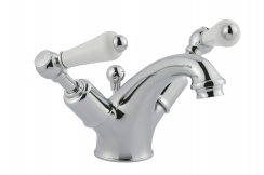 JTP Grosvenor Lever Chrome Basin Mixer With Pop Up Waste