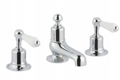 JTP Grosvenor Lever Chrome 3 Hole Deck Mounted Basin Mixer