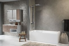 Novellini Aurora 5 Fixed Panel Bath Screen