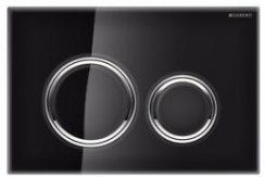 Geberit Sigma 21 Black Glass Dual Flush Plate