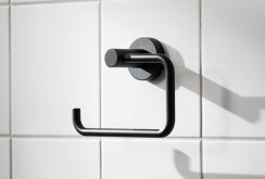 Miller Bond Black Toilet Roll Holder