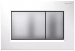 Geberit Sigma 30 White/Matt Chrome/White Dual Flush Plate