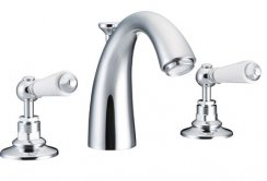 St James 3 Hole Basin Mixer with Classical Spout and Pop Up Waste