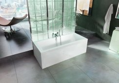 Britton Cleargreen Enviro 1700 x 750mm Double Ended Square Bath