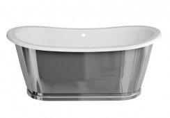 Clearwater Balthazar Freestanding Bath with Nickel Surround
