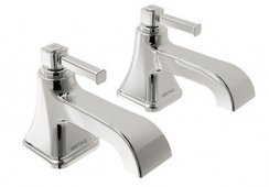 Heritage Somersby Bath Pillar Taps