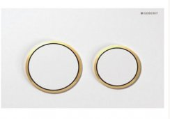 Geberit Omega 20 White/Gold-plated/White Dual Flush Plate