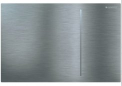 Geberit Sigma 70 Stainless Steel Brushed Dual Flush Plate For Sigma Cistern 12cm