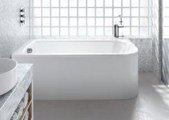 Britton Cleargreen Viride 1700 x 750mm Offset Bath