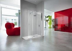 Novellini Kuadra H2 - Shower Panel + Integrated Flipper