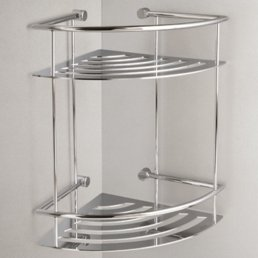 Miller Classic Corner 2 Tier Shower Shelf