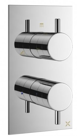 Crosswater Mike Pro Triple Outlet Thermostatic Bath Shower Valve