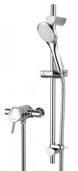 Bristan Thermostatic Surface Mounted Shower Valve with Adjustable Riser