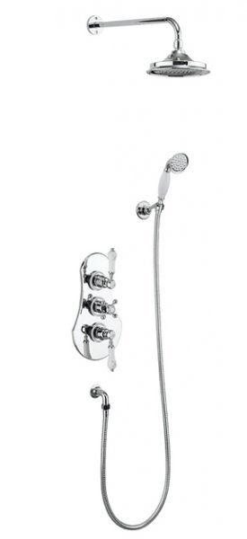 Burlington Severn Thermostatic Two Outlet Concealed Shower Valve