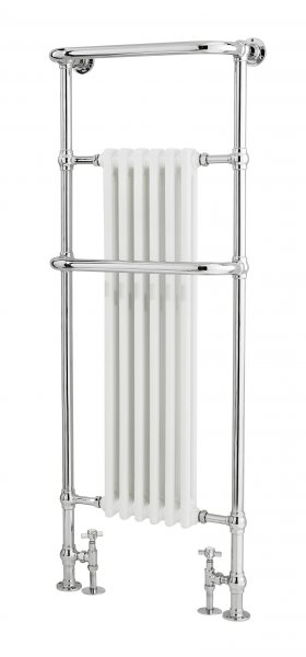 Bayswater Franklyn 1500 x 575mm Chrome and White Towel Rail