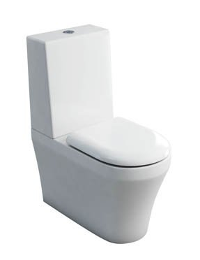 Britton Bathrooms Fine Close Coupled Back to Wall WC With One Piece Cistern